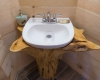 Vermont Tree Cabin - Tree House Interior Sink