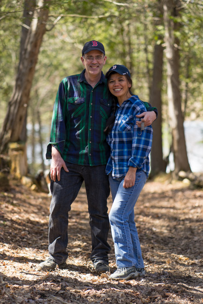 Marilou Kozak and Andrew Kozak - Vermont Tree Cabin Owners