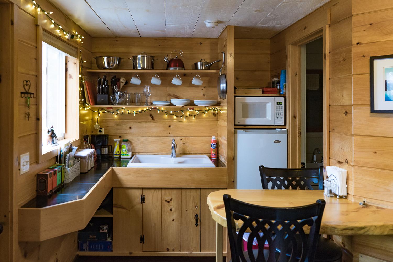Vermont Tree Cabin - Kitchen