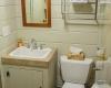 Vermont tree cabin bathroom