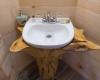 Vermont Tree Cabin - Tree House Interior Sink